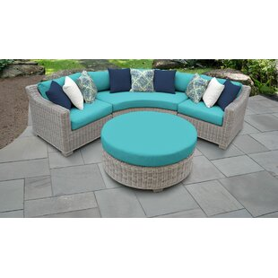 Coast 4 Outdoor Piece Sectional Seating Group Set with Cushions