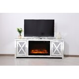 Aaron TV Stand for TVs up to 65 with Fireplace Included by Rosdorf Park