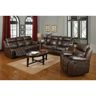 Darby Home Co Chestnut Reclining Configurable Living Room Set