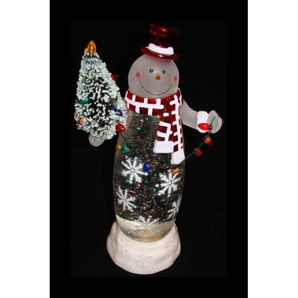 Santa /& Snowman Christmas Lighted LED Mini Shimmers Figurine Set of 2