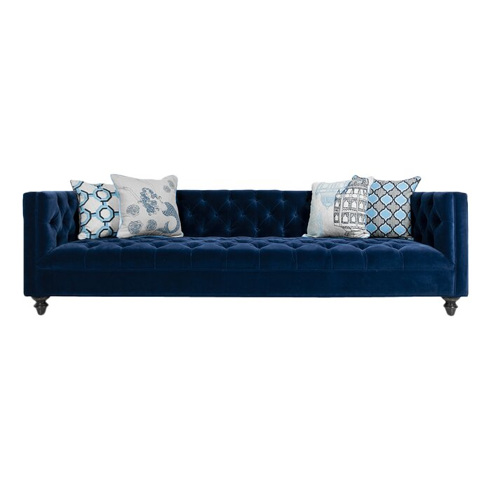 Swell Navy Chesterfield Sofa Machost Co Dining Chair Design Ideas Machostcouk