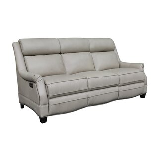 Cheadle Leather Reclining Sofa by Orren Ellis