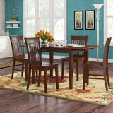 Antonio Butterfly Leaf Solid Wood Breakfast Nook Dining Set by Andover Mills™