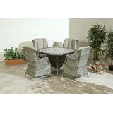 Andri 5 Piece Dining Set with Cushions