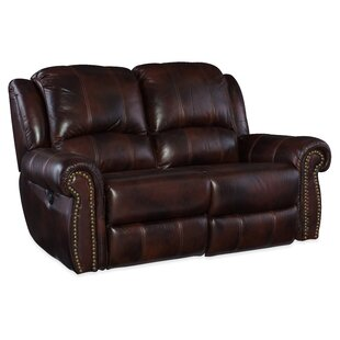 Power Motion Leather Reclining Loveseat