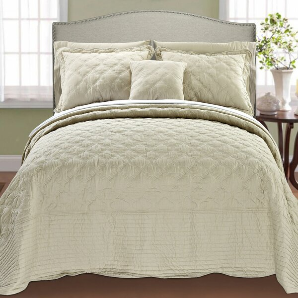 Andover Mills Bosch 4 Piece Quilted Cotton Coverlet Set & Reviews ... : quilted cotton coverlet - Adamdwight.com