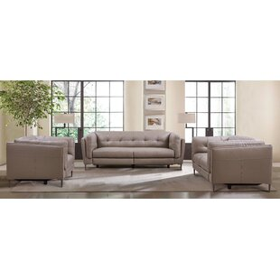Primrose Leather Reclining Configurable Living Room Set by Armen Living