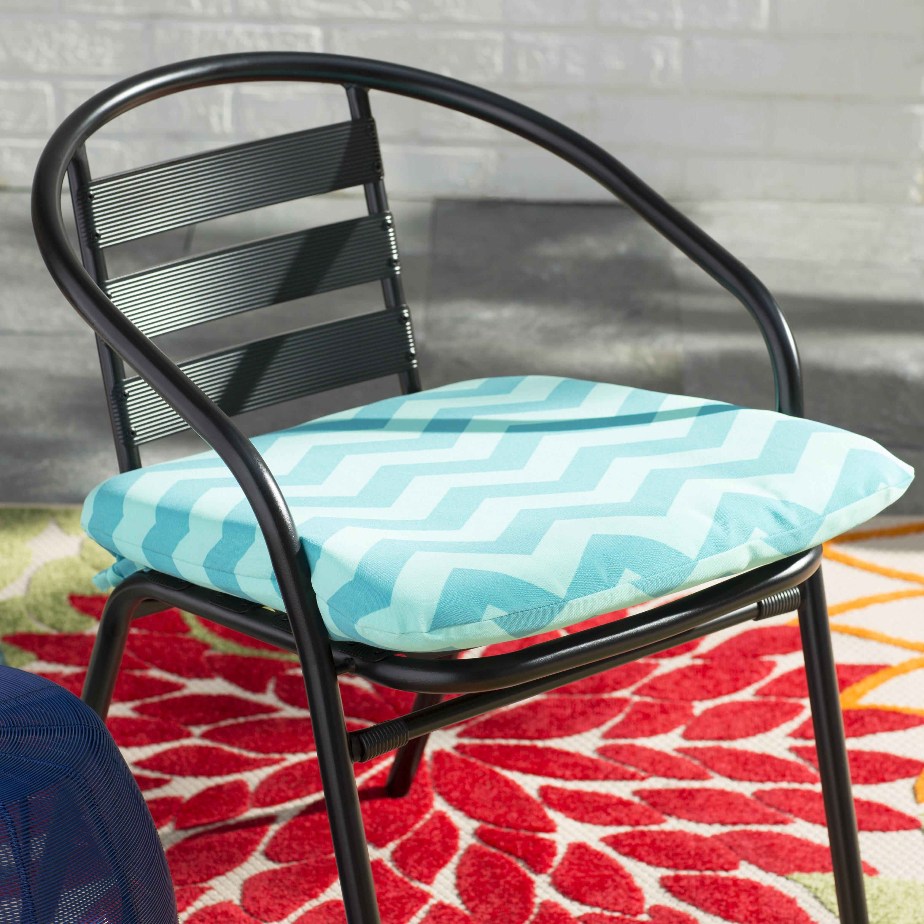 Ebern Designs Chevron Seat Pad Outdoor Chair Cushion U0026 Reviews | Wayfair