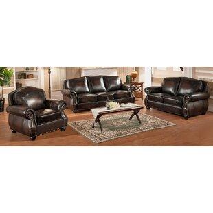 Janay 3 Piece Leather Living Room Set ByFleur De Lis Living