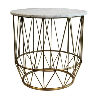 Devereaux Metal & Marble End Table