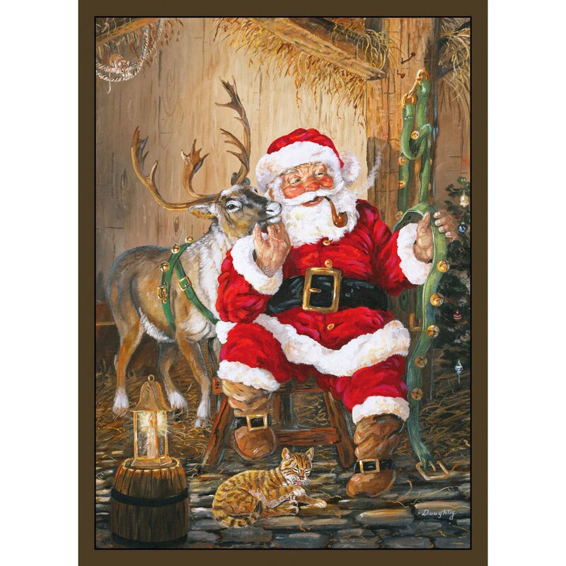 The Holiday Aisle Santa And Reindeer Area Rug Amp Reviews