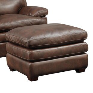 At Home Designs Clarkston Leather Ottoman