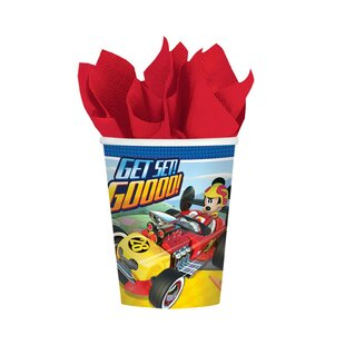 Mickey Roadster Paper Disposable Every Day Cup (Set of 8)