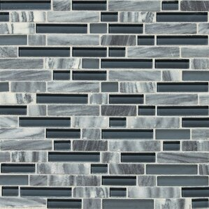 stone radiance random sized slate mosaic tile in glacier gray marble