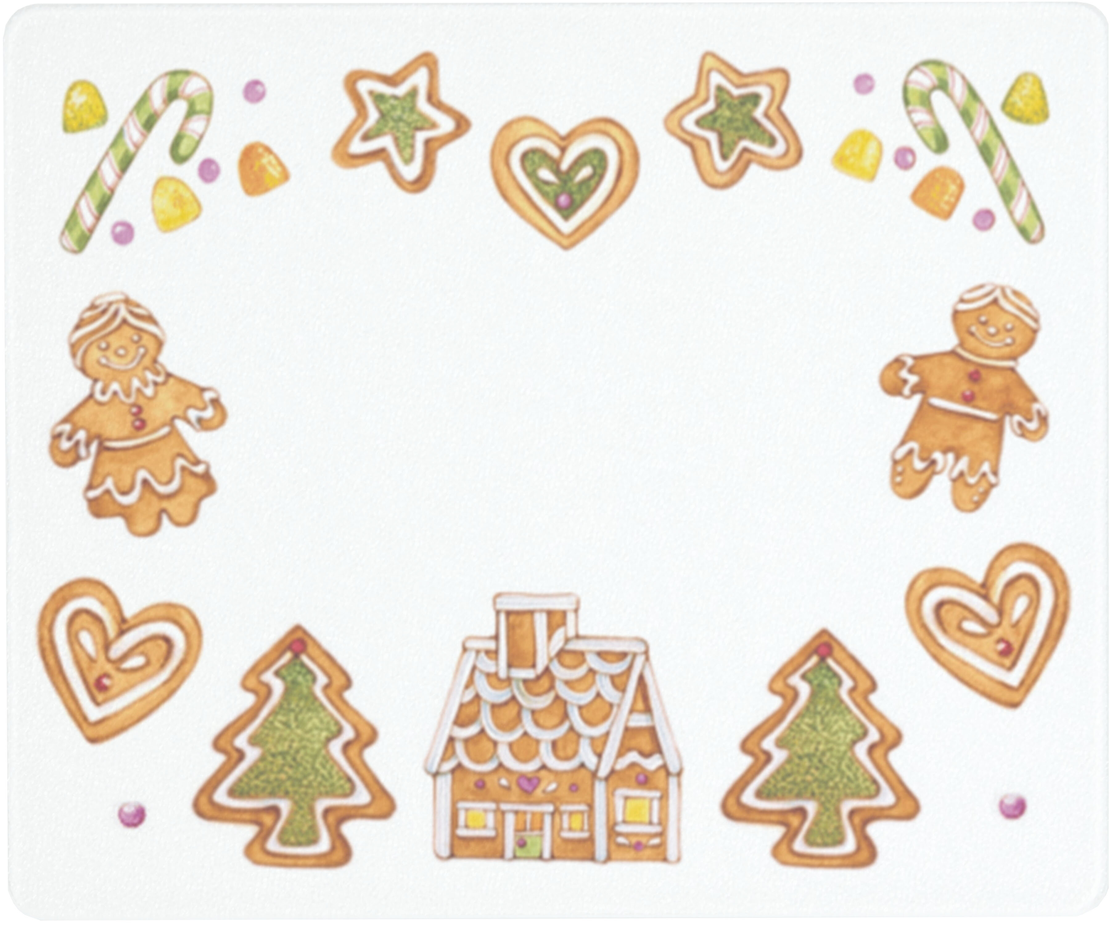 Vance Industries Tempered Glass Gingerbread Cookie Saver Cutting Board Wayfair