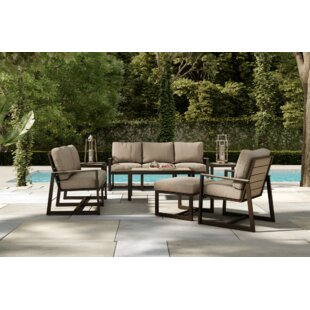 Alessa 5 Piece Sofa Seating Group with Sunbrella Cushions