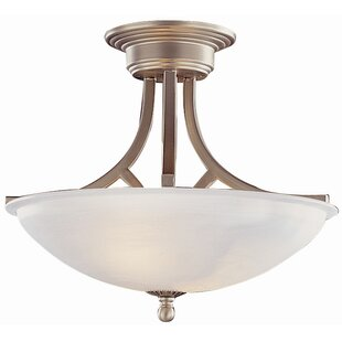 2-Light Semi Flush Mount by Tr..