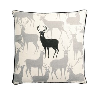 Monument Reindeer Square Synthetic Throw Pillow