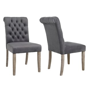 Kamron High Back Tufted Upholstered Dining Chair (Set of 2)