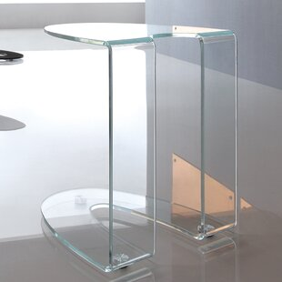 Orren Ellis Boese Glass End Table