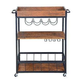 Castellon Rustic Industrial Bar Cart