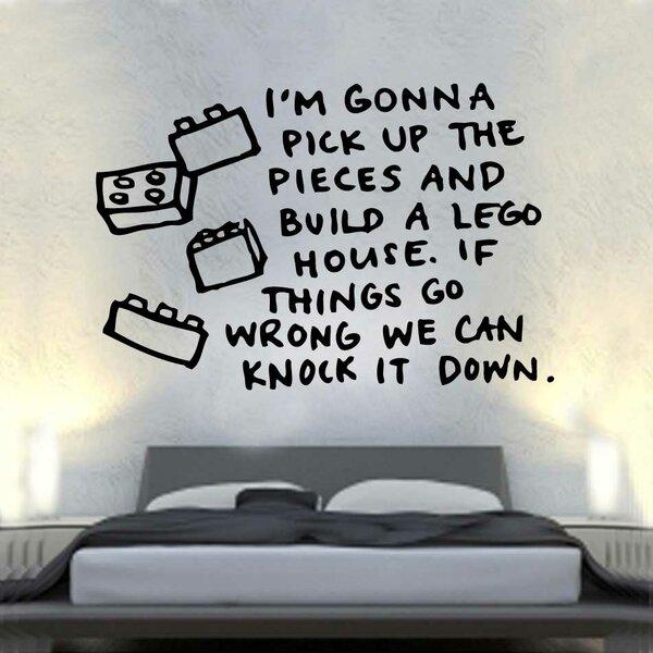 East Urban Home Lego House Lyrics Decal Wall Sticker ...
