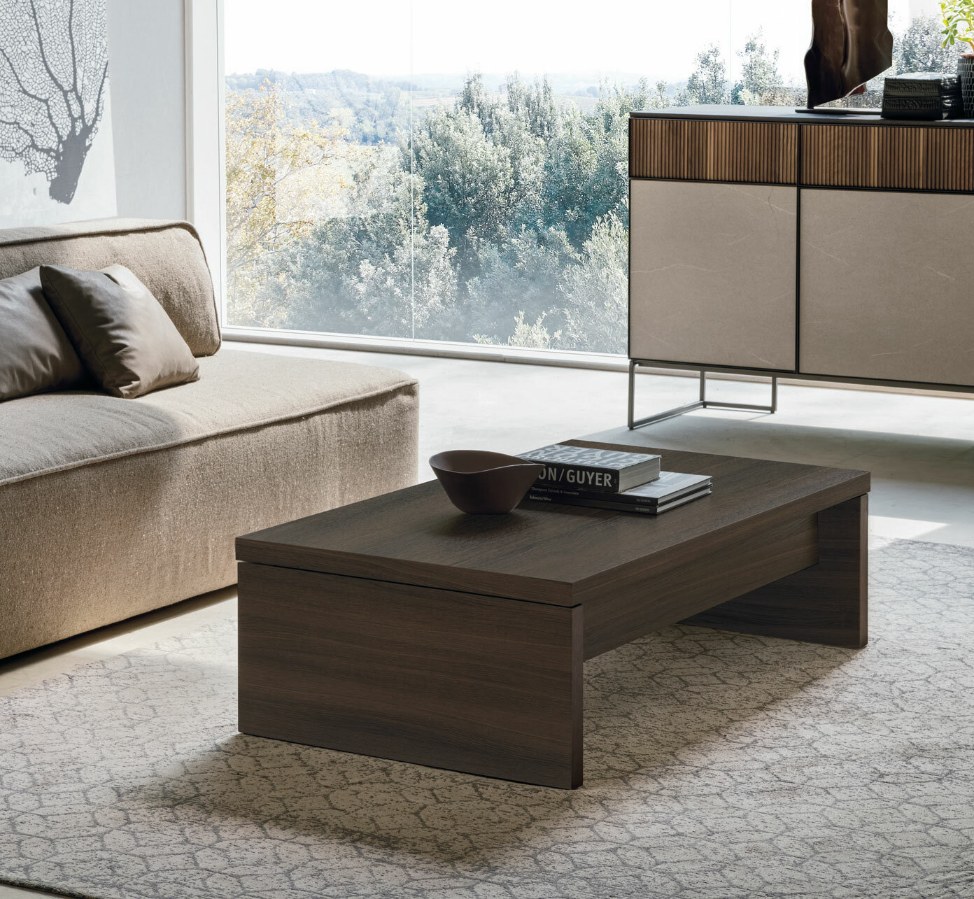 Yumanmod Cosmo Lift Top Extendable Sled Coffee Table With Storage Wayfair