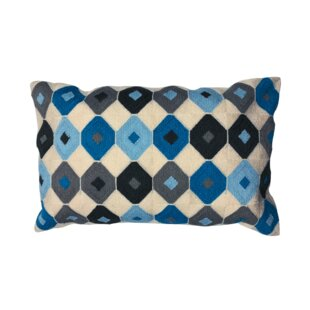 Feickert Handmade Geometric Indoor/Outdoor Cotton Lumbar Pillow