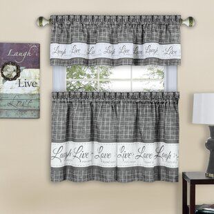 Mikesell Country Kitchen Plaid Check 3 Piece Kitchen Curtain Set By August Grove