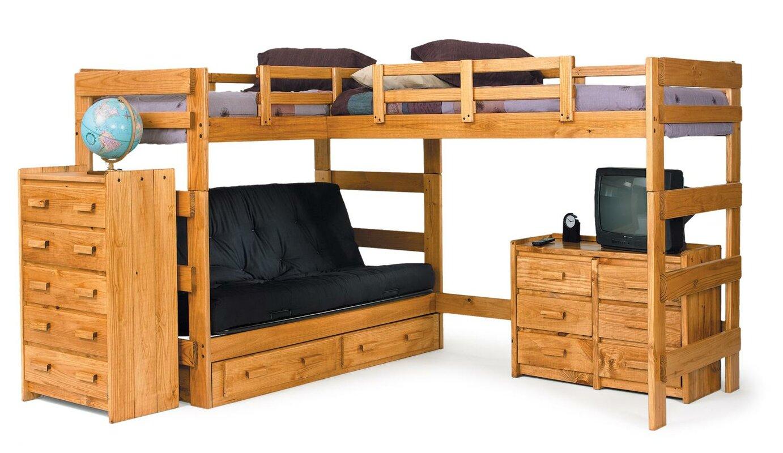 l shaped bunk bed - Loft Bed Frame Queen