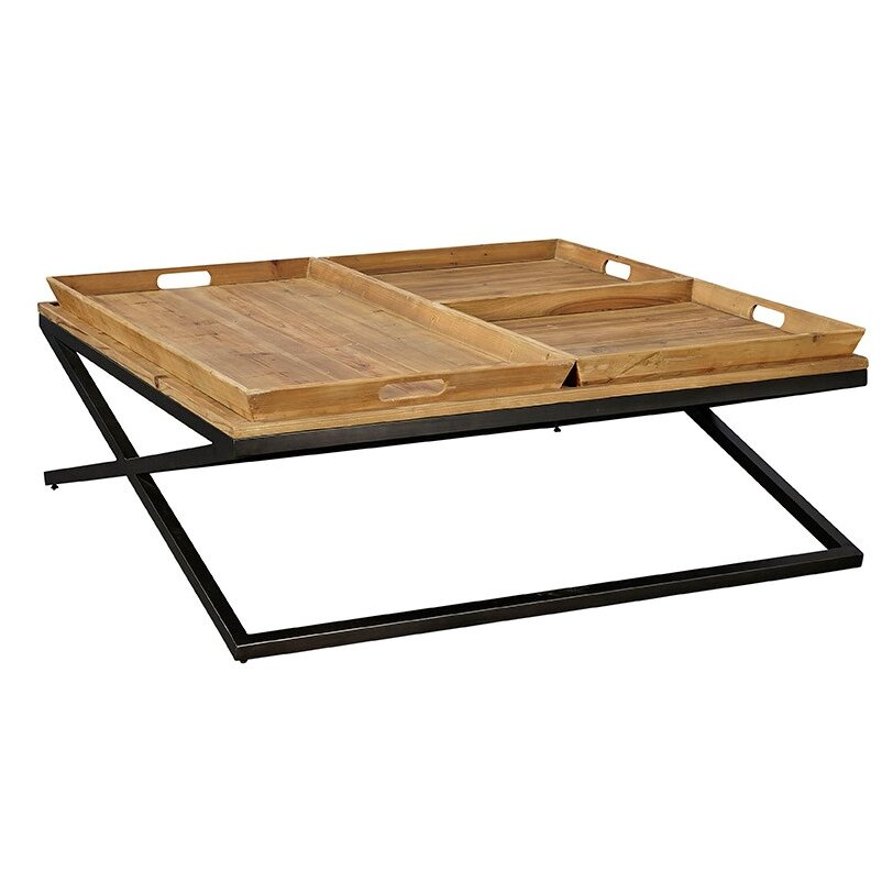 Furniture classics ltd tres coffee table with tray top for Furniture classics ltd coffee table