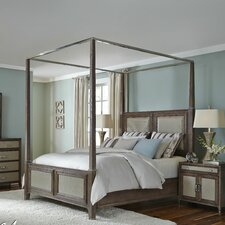 Biscayne West Panel Bed by Michael Amini (AICO)