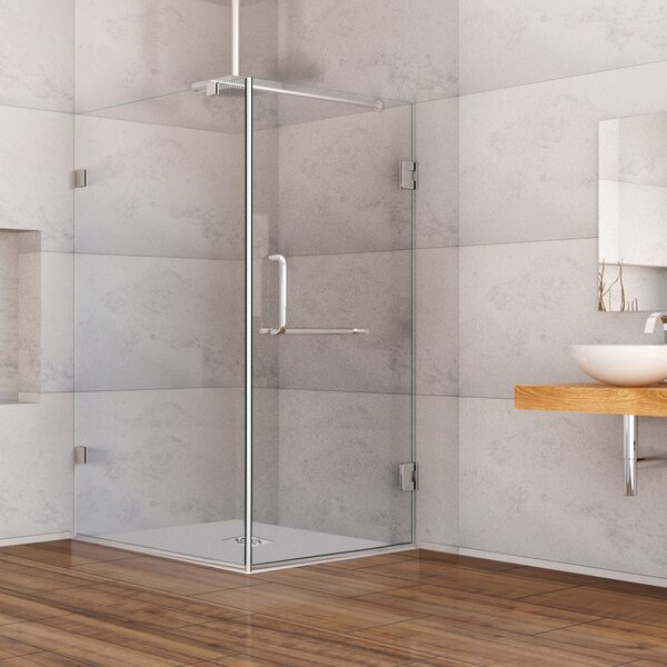 frameless shower enclosure with 375in wayfair