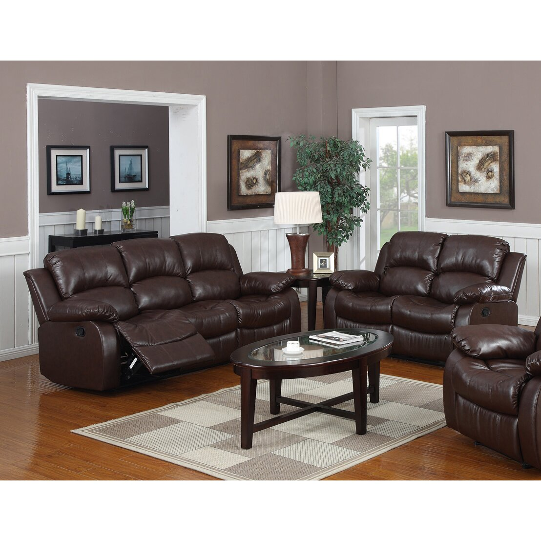 Latitude run bryce 2 piece reclining living room set for Wg r living room sets