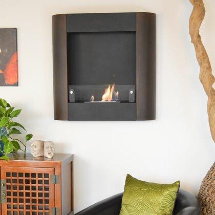 Nu Flame Focolare Muro Noce Wall Mount Bio Ethanol Fireplace Wayfair