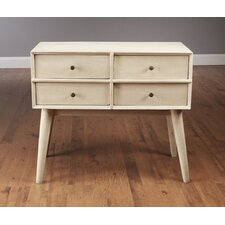 Mid Century Style 4 Drawer Dresser by AA Importing