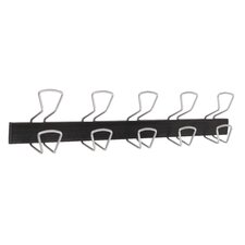 Modern 5 Double Hook Wall Coat Rack by Alba