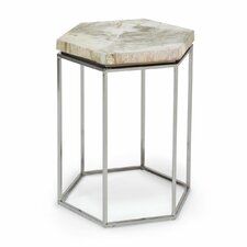Hex Petrified Wood End Table by Palecek