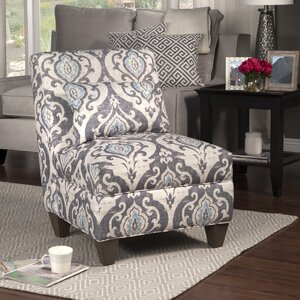 Mowbray Slate Large Slipper Chair by Bungalow Rose
