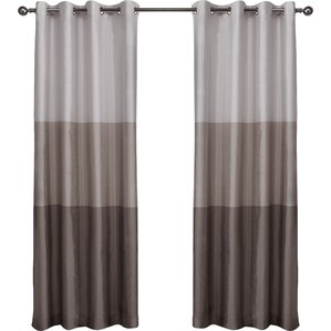 Newton Striped Semi Sheer Grommet Curtain Panels (Set Of 2)
