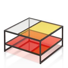 Nemin Contemporary Coffee Table with Magazine Rack by Enitial Lab