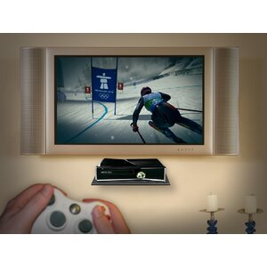 Glass Gaming Console Wall Shelf by Master Mounts