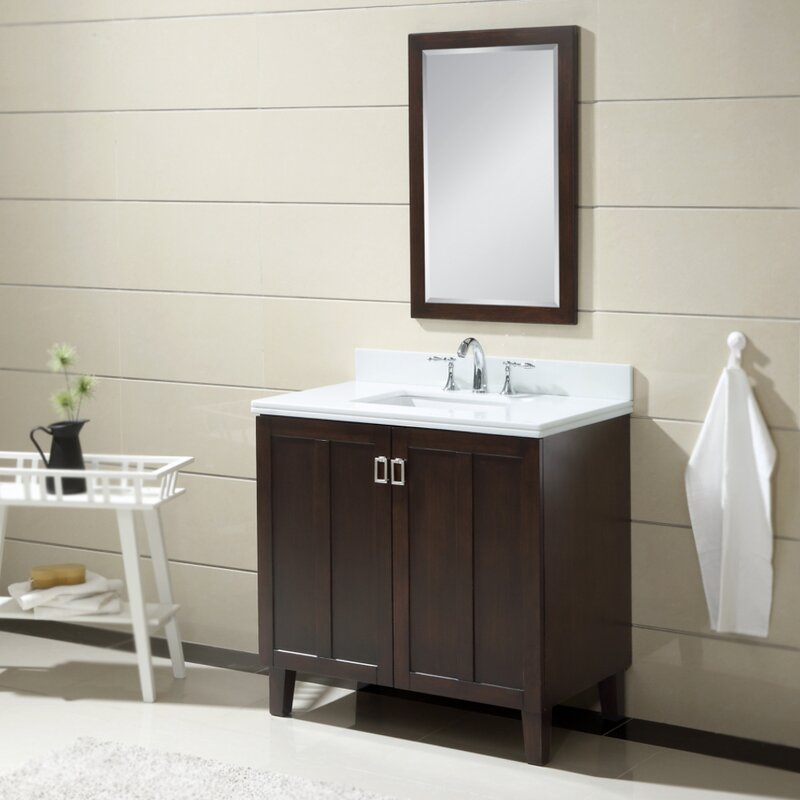 "zipcode design lehigh 36"" single sink bathroom vanity set 