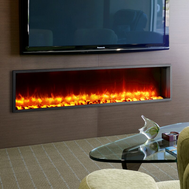 Wade Logan Belden  Builtin LED Wall Mount Electric Fireplace - Fireplace inserts electric