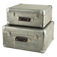 Hagen 2 Piece Suitcase Trunk Set by Aspire