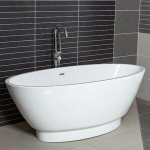 170cm x 79cm Freestanding Soaking Bathtub