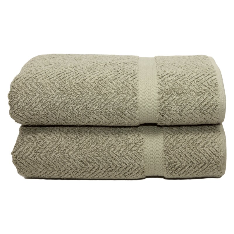 Linum Home Textiles Herringbone Weave 100 Turkish Cotton Bath