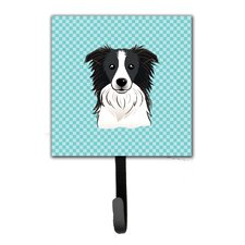 Checkerboard Border Collie Leash Holder and Wall Hook by Caroline's Treasures