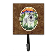 Keeshond Leash Holder and Wall Hook by Caroline's Treasures