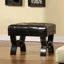 Central Park Leather Ottoman by Armen Living